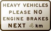 Traffic sign: No engine brakes